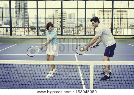 Tennis Training Coaching Exercise Athlete Active Concept