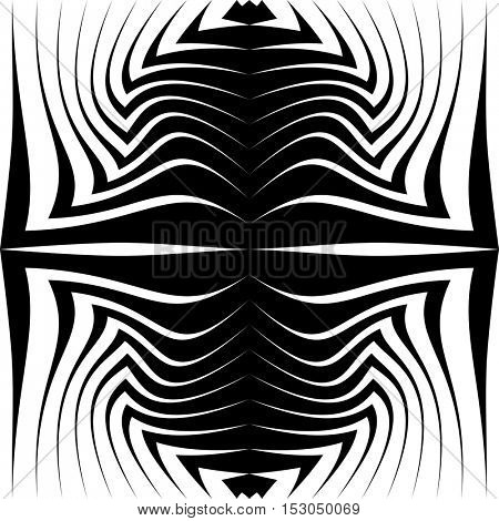Seamless Stripe Pattern. Vector Black and White Texture. Abstract Graphic Design