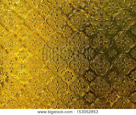 yellow glass light shines. of background texture.