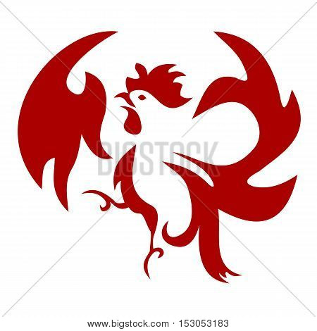 Icon of a jumping squawking cockerel or rooster