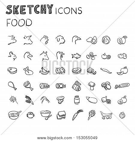 Simple Set of food Related Vector Line Icons.