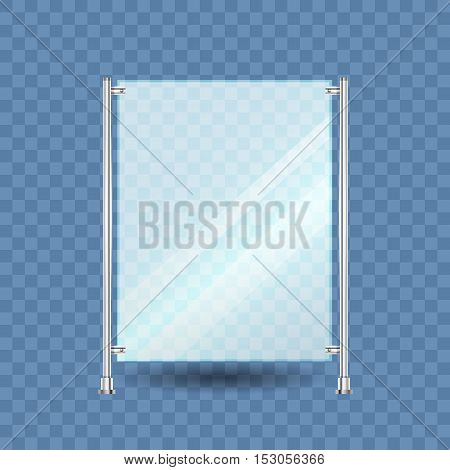 Blank roll up banner display on white