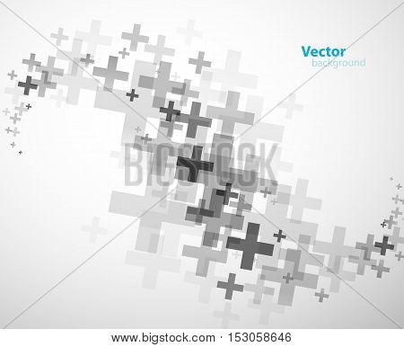 Abstract background created with plus signs - horizontal version.