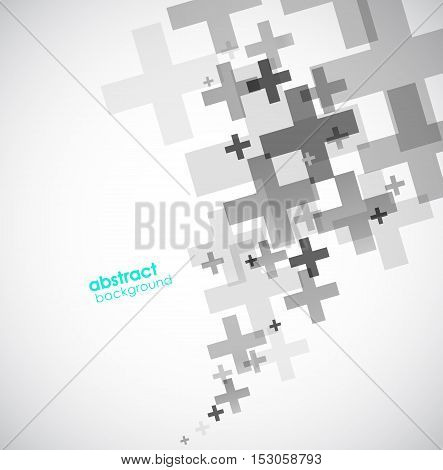 Abstract background created with plus signs. Vector art