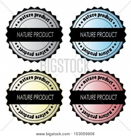 Vector set of nature product labels - illustration