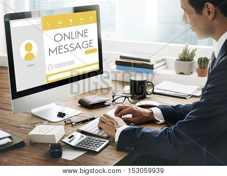 Message Live Chat Communication Concept
