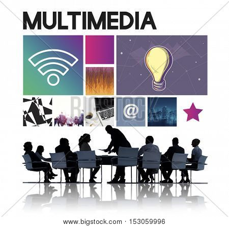 Multimedia Technology Cyberspace Network Concept