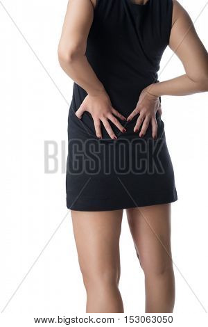 Woman with Backache Isolated