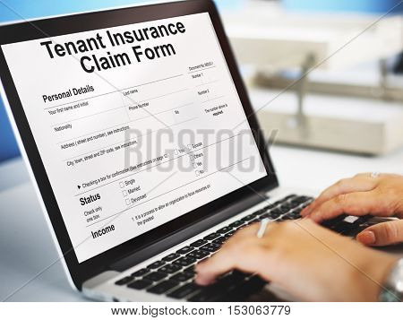 Tenant Insurance Claim Form Audit Benefit Concept