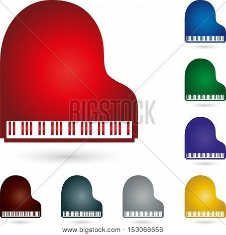 Piano, piano color, pianino, music and piano logo