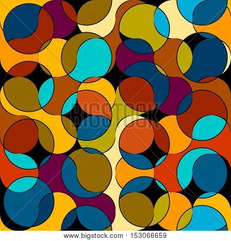 Seamless background pattern. Geometrical with a intersection abstract pattern.