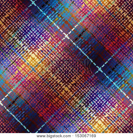 Seamless background pattern. Diagonal abstract plaid pattern.