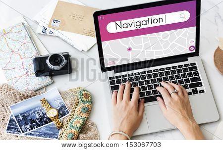 Navigation GPS Map Destination Concept