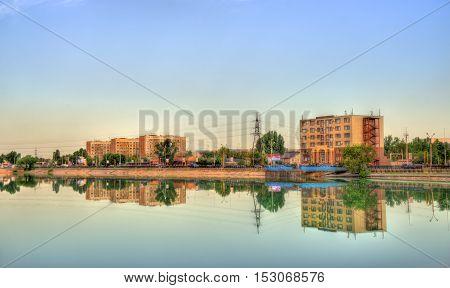 View of Sairan reservoir in Almaty - Kazakhstan