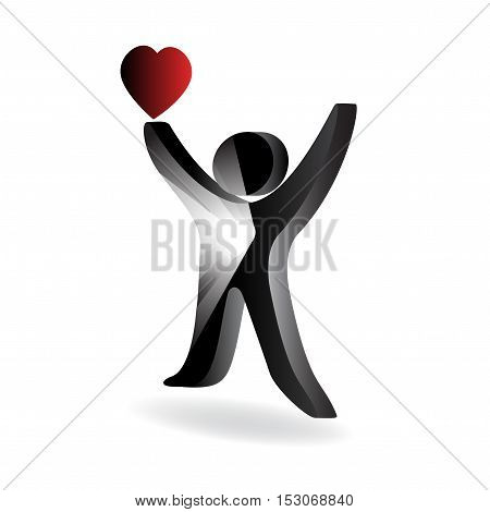 Vector symbol of human on white background