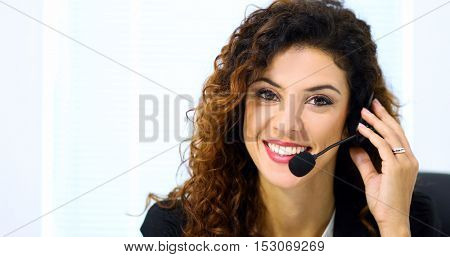 Portrait of a beautiful customer representative at work