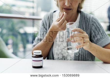 Medical Patient Drug Care Concept