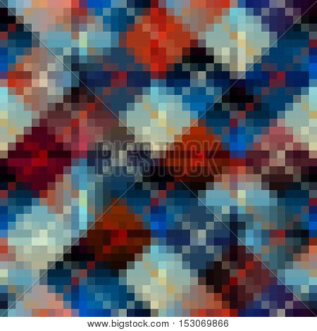 Seamless background pattern. Colorful geometric abstract pattern.