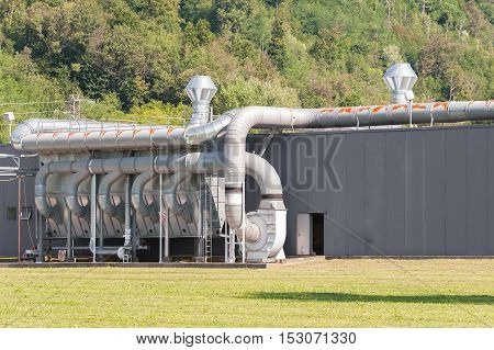 Industrial plant ,air filtration and ventilation system