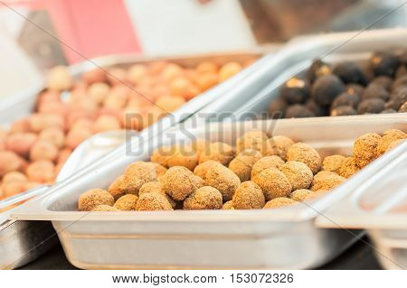 Fried Olive Ascolane . Typical Regional Dish