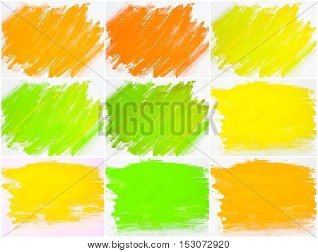 Collage Of Abstract Water Color Textured Backgrounds