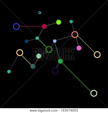Social Network Graphic Concept. Geometric Set Polygonal Structure With Wire Mesh, Modern Chaotic Sci