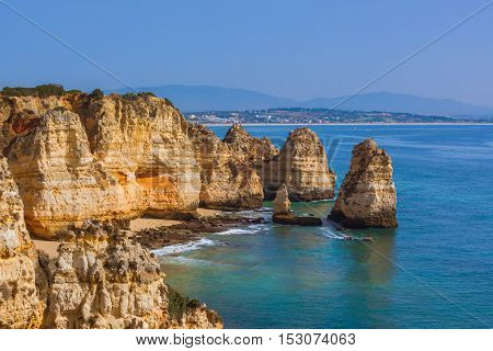 Beach near Lagos - Algarve region in Portugal