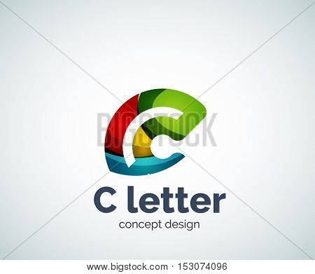 C letter concept logo template, abstract business icon