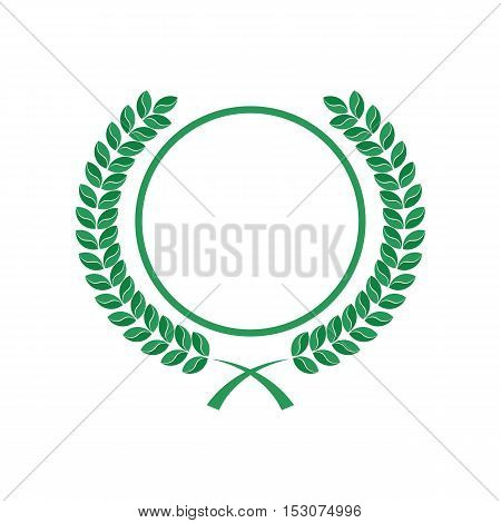 Rounded Leaves and Circle Logo Template. Isolated.