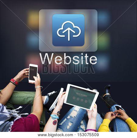 Cloud Computing Data Sharing Storage Graphic Concept