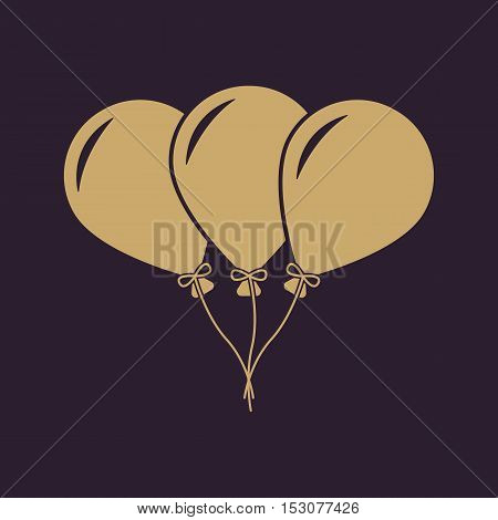 The balloons icon. Fun and celebration, birthday symbol. Flat Vector illustration