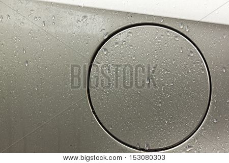 Vehicle Body Gasoline Filler Cap Cover With Water Droplets