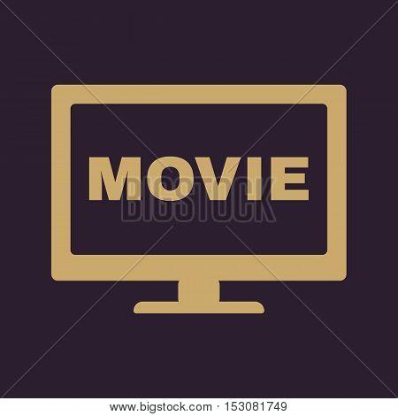 The movie icon. Television and tv, cinema, film symbol. Flat Vector illustration