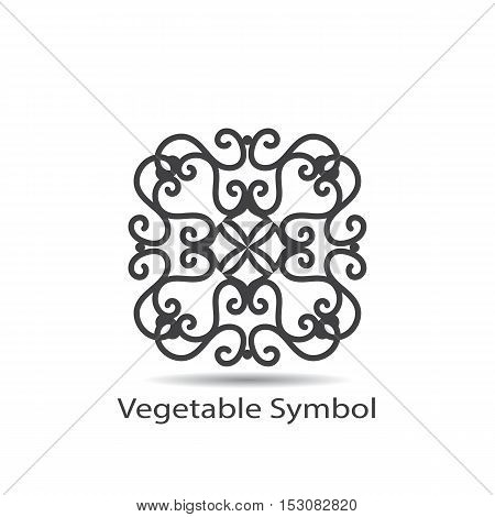 Vector vegetable or geometrical symbol for decoration