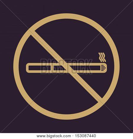 No smoke icon. Stop smoking symbol. Vector. Icon for public places.