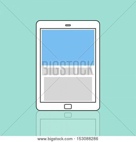 Web Design Template Copy Space Concept