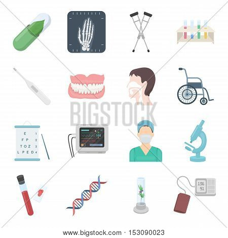 Medicine and hospital set icons in cartoon style. Big collection medicine and hospital vector symbol stock