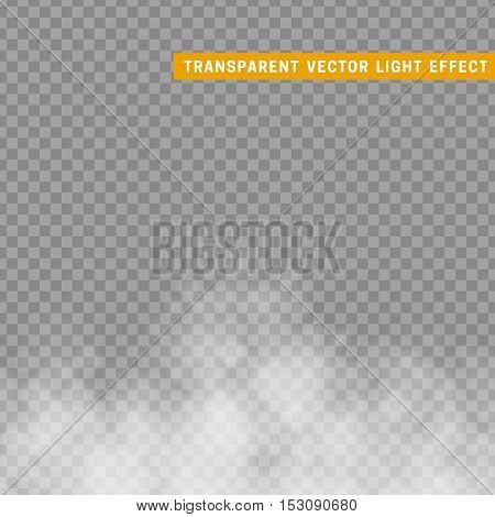 Fog or smoke isolated transparent special effect. The steam effect. Volatile gas effect. Nebula for design. The natural effect of the mist to the environment.