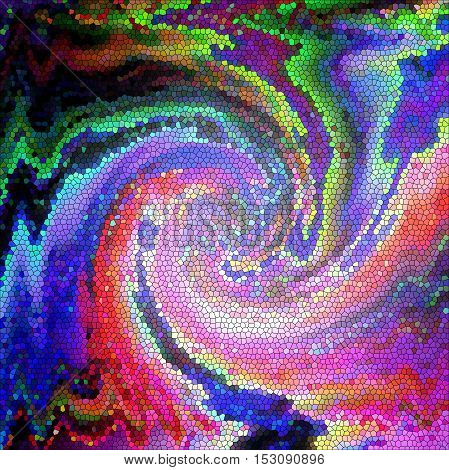Abstract coloring background of the skyline gradient with visual wave, lighting,stained glass and twirl effects, good for your project design