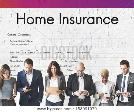 Home Insurance Security Form Concept