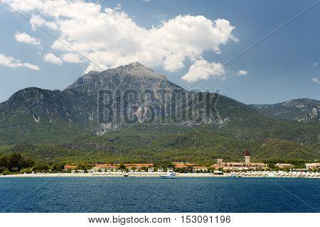 Beach and coastline near Tekirova, Turkey