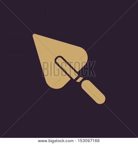 The trowel icon. Mason and building, repair, plasterer symbol. Flat Vector illustration