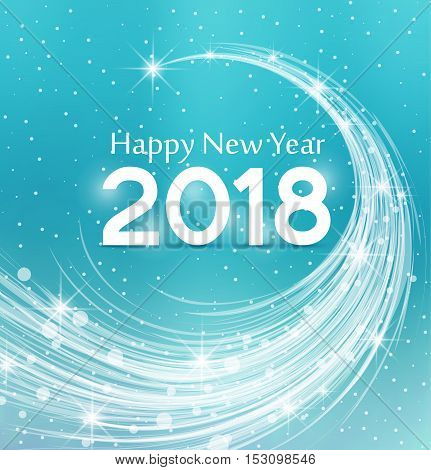 Happy New Year 2018, vector illustration Christmas background