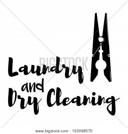 Clothes Clip vector. Laundry and Dry Cleaning