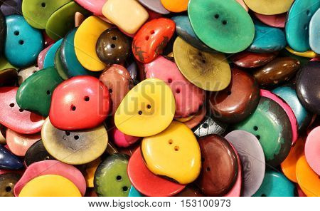Background Of Buttons In The Ethnic Shop