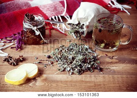 Herbal Tea On The Table