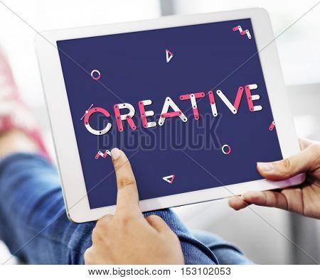 Creative Digital Tablet Graphic Design Concept
