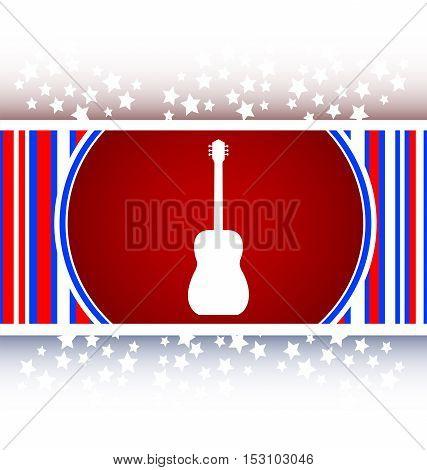 white Guitar or red icon button, web button