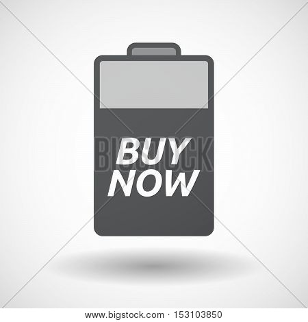 Isolated  Battery Icon With    The Text Buy Now