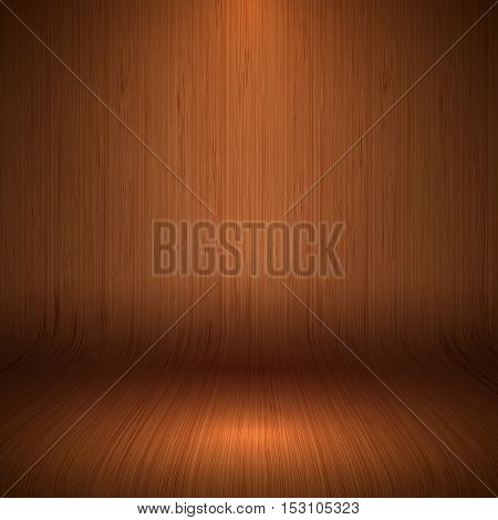 Modern curved wooden display background